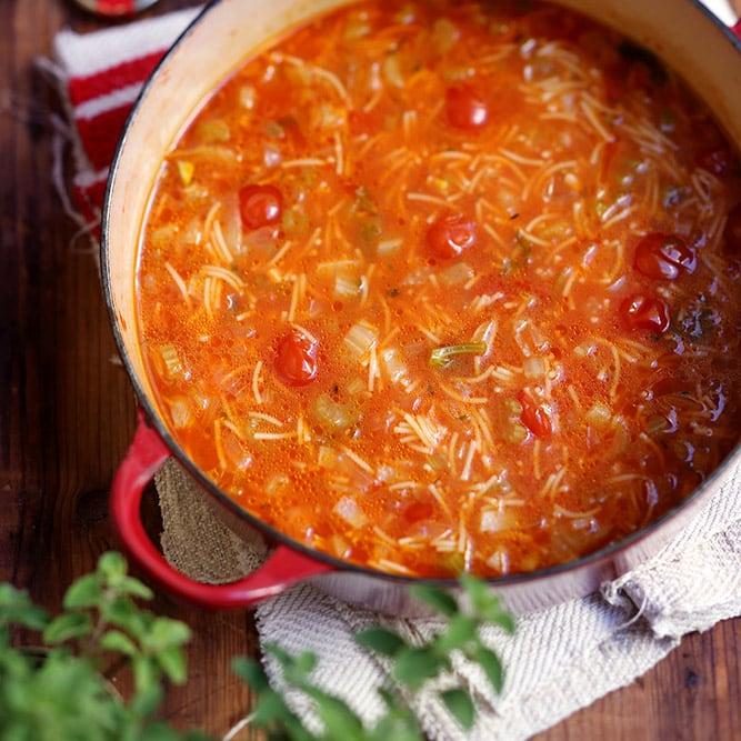 מרק עגבניות ושומר