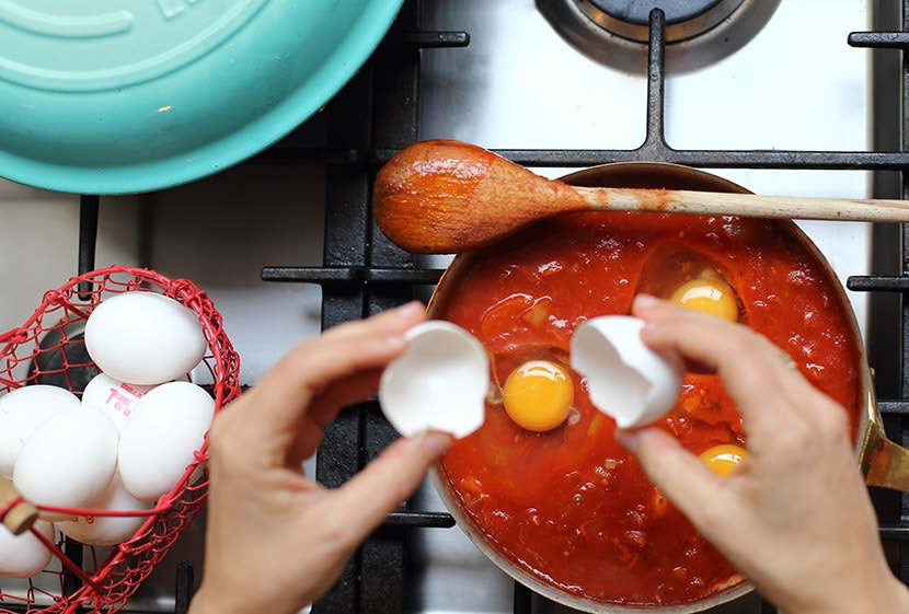 שקשוקה עם רוטב עגבניות Mutti